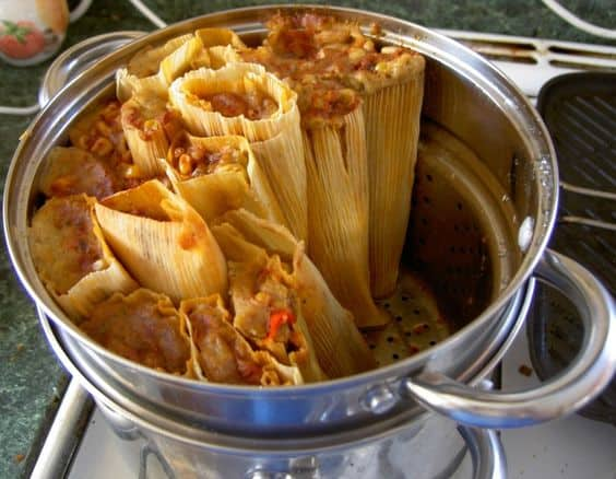 How to Steam Tamales without a Steamer